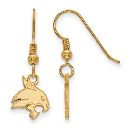 Picture of Texas State University Bobcats Sterling Silver Gold Plated Small Dangle Earrings