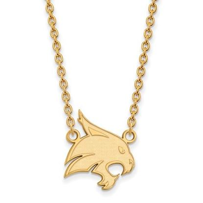 Picture of Texas State University Bobcats Sterling Silver Gold Plated Large Necklace