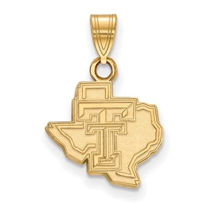 Picture of Texas Tech University Red Raiders Sterling Silver Gold Plated Small Pendant