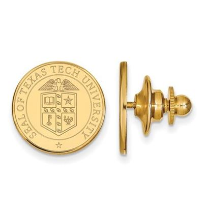 Picture of Texas Tech University Red Raiders Sterling Silver Gold Plated Crest Lapel Pin