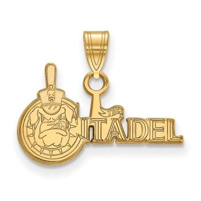 Picture of The Citadel Bulldogs Sterling Silver Gold Plated Small Pendant