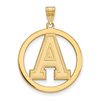 Picture of U.S. Military Academy Black Knights Sterling Silver Gold Plated Large Circle Pendant