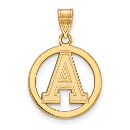 Picture of U.S. Military Academy Black Knights Sterling Silver Gold Plated Small Circle Pendant