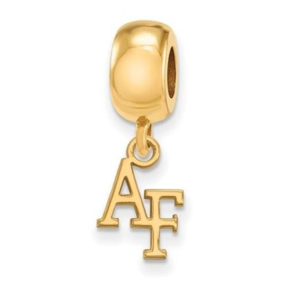 Picture of U.S. Air Force Academy Falcons Sterling Silver Gold Plated Extra Small Dangle Bead