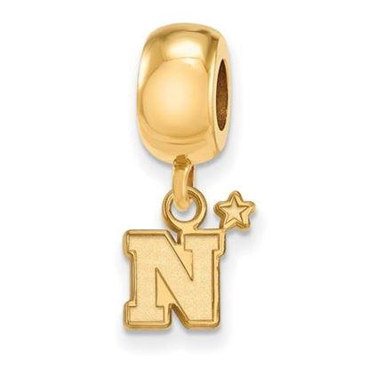 Picture of U.S. Naval Academy Midshipmen Sterling Silver Gold Plated Extra Small Bead Charm