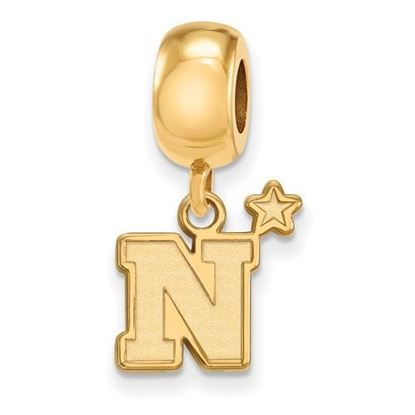Picture of U.S. Naval Academy Midshipmen Sterling Silver Gold Plated Small Dangle Bead