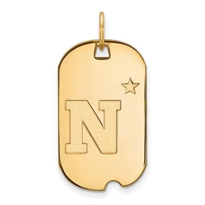 Picture of U.S. Naval Academy Midshipmen Sterling Silver Gold Plated Small Dog Tag
