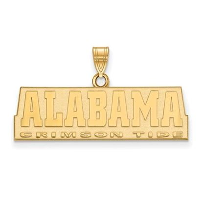 Picture of University of Alabama Crimson Tide Sterling Silver Gold Plated Small Pendant