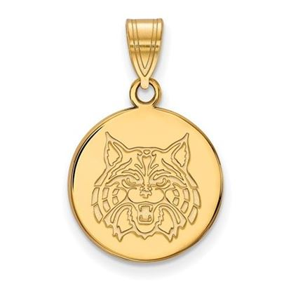 Picture of University of Arizona Wildcats Sterling Silver Gold Plated Medium Disc Pendant