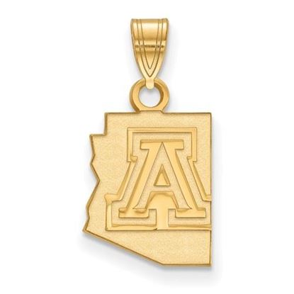 Picture of University of Arizona Wildcats Sterling Silver Gold Plated Small Pendant