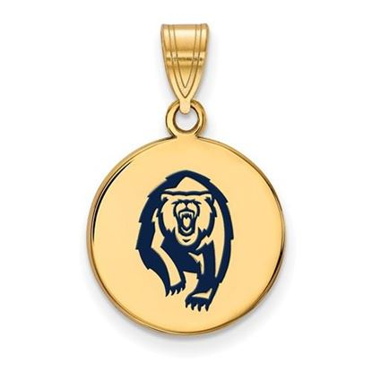 Picture of University of California Berkeley Golden Bears Sterling Silver Gold Plated Med Enameled Disc Pendant