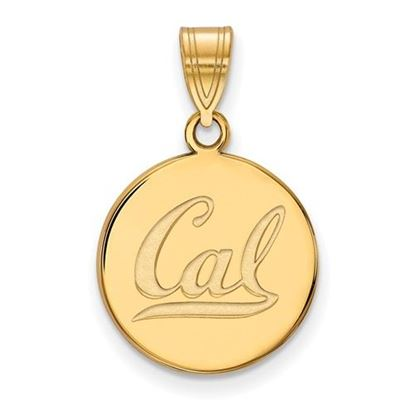 Picture of University of California Berkeley Golden Bears Sterling Silver Gold Plated Medium Disc Pendant
