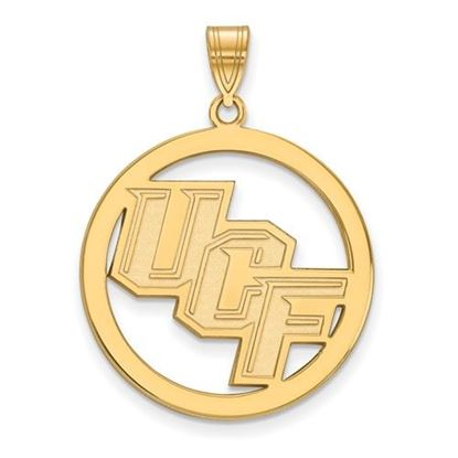 Picture of University of Central Florida Knights Sterling Silver Gold Plated Large Circle Pendant