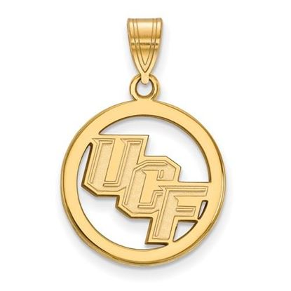 Picture of University of Central Florida Knights Sterling Silver Gold Plated Small Circle Pendant