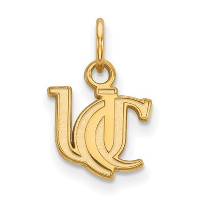 Picture of University of Cincinnati Bearcats Sterling Silver Gold Plated Extra Small Pendant