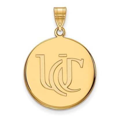 Picture of University of Cincinnati Bearcats Sterling Silver Gold Plated Large Pendant