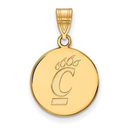 Picture of University of Cincinnati Bearcats Sterling Silver Gold Plated Medium Pendant