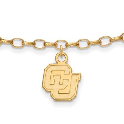 Picture of University of Colorado Buffaloes Sterling Silver Gold Plated Anklet