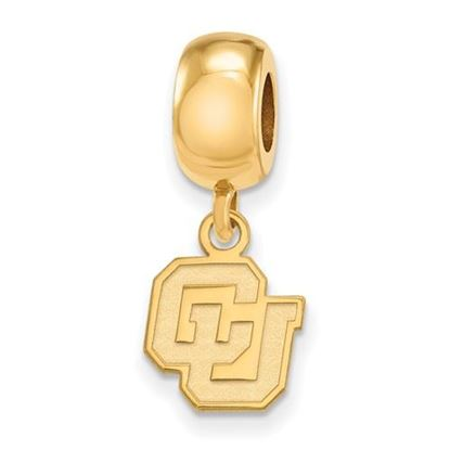 Picture of University of Colorado Buffaloes Sterling Silver Gold Plated Extra Small Bead Charm