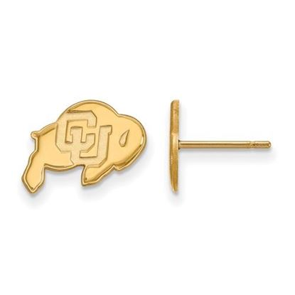 Picture of University of Colorado Buffaloes Sterling Silver Gold Plated Extra Small Post Earrings