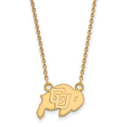 Picture of University of Colorado Buffaloes Sterling Silver Gold Plated Small Necklace