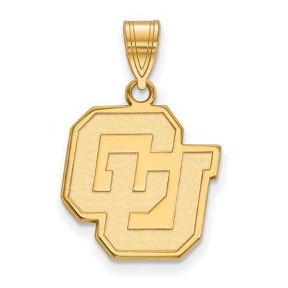Picture of University of Colorado Buffaloes Sterling Silver Gold Plated Medium Pendant