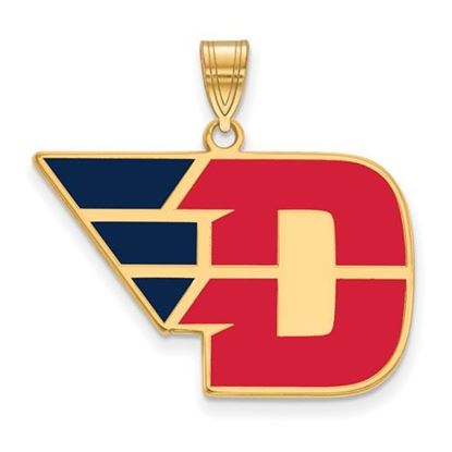 Picture of University of Dayton Flyers Sterling Silver Gold Plated Large Enameled Pendant