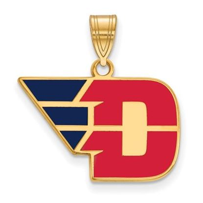 Picture of University of Dayton Flyers Sterling Silver Gold Plated Medium Enameled Pendant