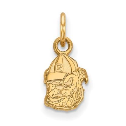 Picture of University of Georgia Bulldogs Sterling Silver Gold Plated Extra Small Pendant
