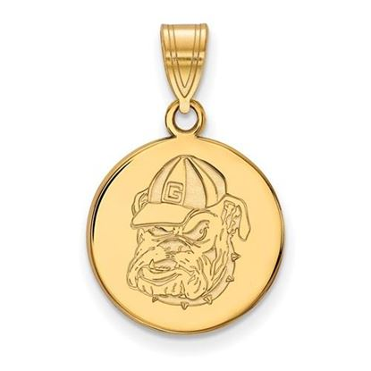 Picture of University of Georgia Bulldogs Sterling Silver Gold Plated Medium Pendant