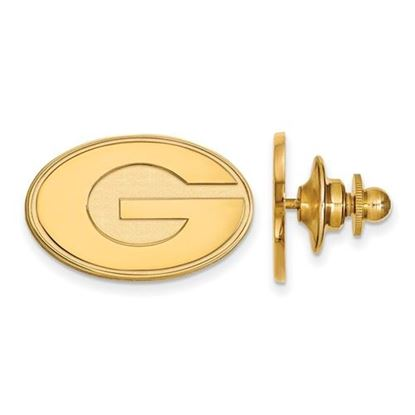 Picture of University of Georgia Bulldogs Sterling Silver Gold Plated Lapel Pin