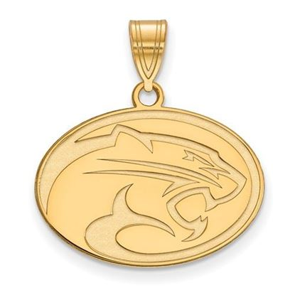 Picture of University of Houston Cougars Sterling Silver Gold Plated Medium Pendant