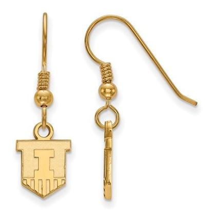 Picture of University of Illinois Fighting Illini Sterling Silver Gold Plated Extra Small Dangle Earrings