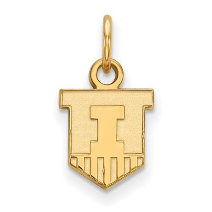Picture of University of Illinois Fighting Illini Sterling Silver Gold Plated Extra Small Pendant