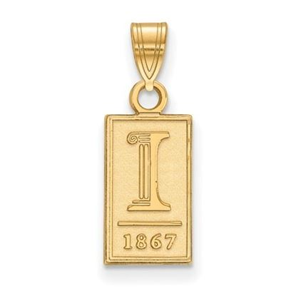 Picture of University of Illinois Fighting Illini Sterling Silver Gold Plated Small Pendant