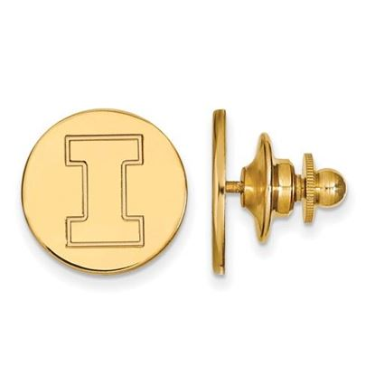 Picture of University of Illinois Fighting Illini Sterling Silver Gold Plated Lapel Pin