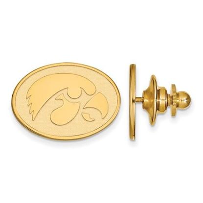 Picture of University of Iowa Hawkeyes Sterling Silver Gold Plated Lapel Pin