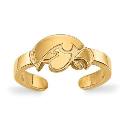 Picture of University of Iowa Hawkeyes Gold Plated Toe Ring