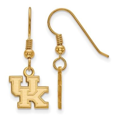 Picture of University of Kentucky Wildcats Sterling Silver Gold Plated Extra Small Dangle Earrings