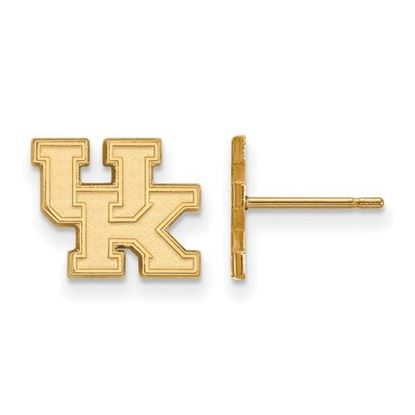Picture of University of Kentucky Wildcats Sterling Silver Gold Plated Extra Small Post Earrings