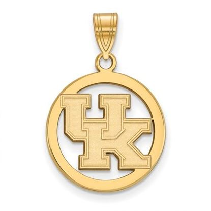 Picture of University of Kentucky Wildcats Sterling Silver Gold Plated Small Circle Pendant