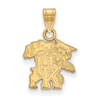 Picture of University of Kentucky Wildcats Sterling Silver Gold Plated Small Pendant