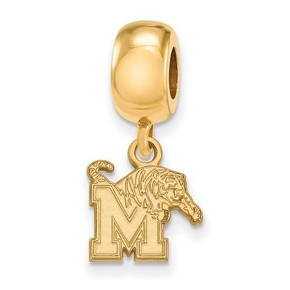 Picture of University of Memphis Tigers Sterling Silver Gold Plated Extra Small Bead Charm