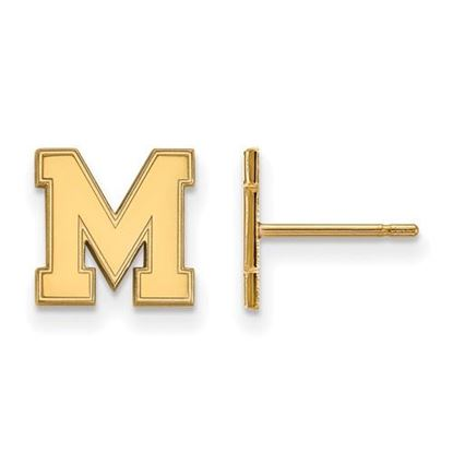 Picture of University of Memphis Tigers Sterling Silver Gold Plated Extra Small Post Earrings