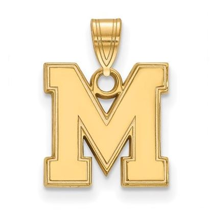 Picture of University of Memphis Tigers Sterling Silver Gold Plated Small Pendant