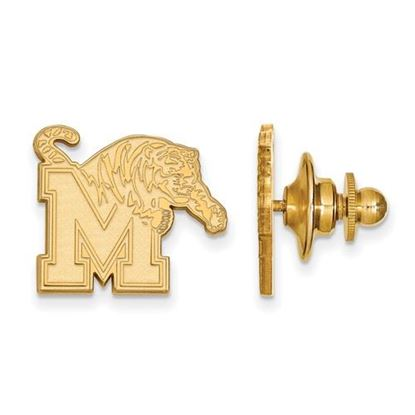 Picture of University of Memphis Tigers Sterling Silver Gold Plated Lapel Pin