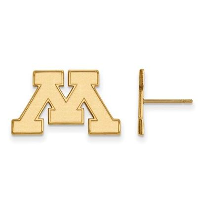 Picture of University of Minnesota Golden Gophers Sterling Silver Gold Plated Small Post Earrings