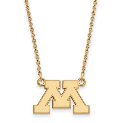 Picture of University of Minnesota Golden Gophers Sterling Silver Gold Plated Small Necklace