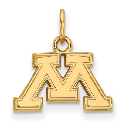Picture of University of Minnesota Golden Gophers Sterling Silver Gold Plated Extra Small Pendant