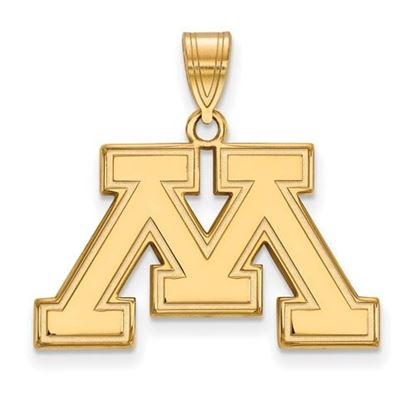 Picture of University of Minnesota Golden Gophers Sterling Silver Gold Plated Medium Pendant